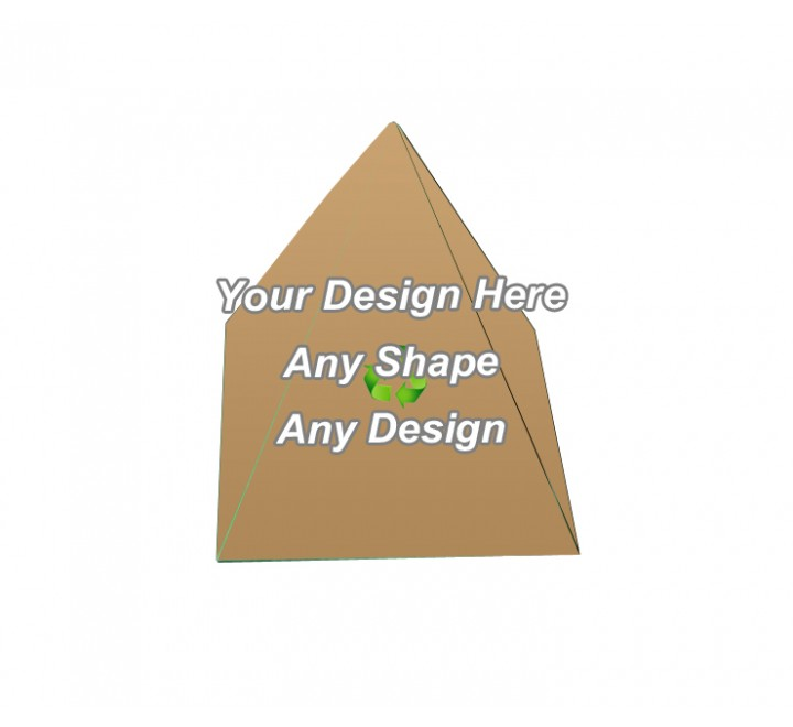 Recycled - Pyramid Shape Boxes