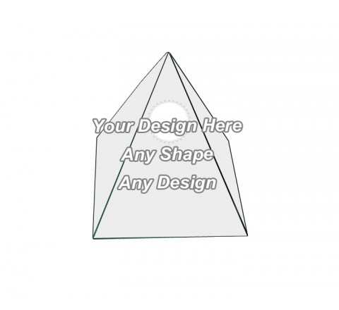 Die Cut - Pyramid Shape Boxes