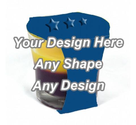 Embossed - Cup Jar Sleeve Packaging
