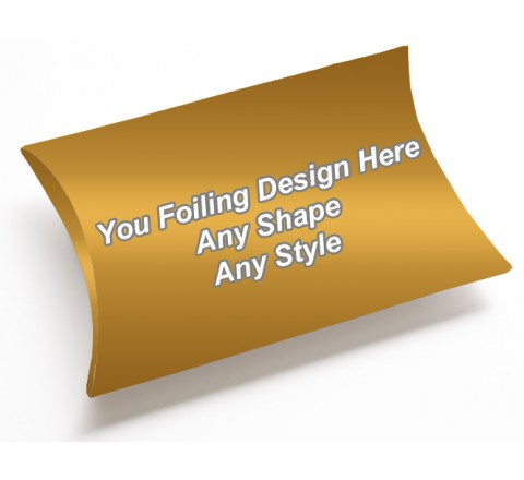 Golden Foiling - Pillow Style Packaging Boxes